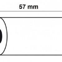 KORES 56654400. Pack 10 rollos de papel térmico sin PBA de 57x30x12 mm.