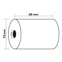 KORES 56656500. Pack 10 rollos de papel térmico sin PBA de 60x55x12 mm.