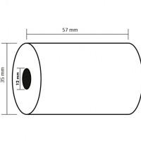 KORES 66654100. Pack 10 rollos de papel térmico de 57x35x12 mm.