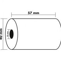 KORES 66654200. Pack 10 rollos de papel térmico de 57x40x12 mm.