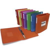GRAFOPLÁS 30121451. Pack 2 carpetas Multiline A4+ de 4 anillas de 25. Color rojo