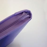 GRAFOPLÁS 04802235. Pack 2 carpetas con cremallera A4 Multiline color violeta