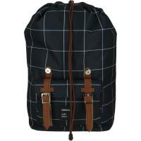 GRAFOPLAS 37502010. Mochila escolar Backpack Unequal Grid negra
