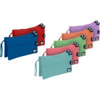 GRAFOPLAS 37545330. Estuche escolar portatodo Doble Plano Bits&Bobs azul