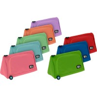 GRAFOPLAS 37545953. Estuche escolar portatodo Pirámide Bits&Bobs rosa claro
