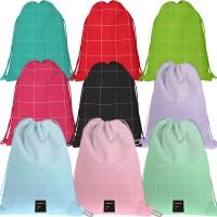 GRAFOPLAS 37610753. Mochila saco con cuerdas Unequal Grid color rosa claro