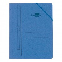 Liderpapel 15799. Carpeta azul con gomas formato folio con solapas