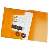 Liderpapel 25613. Carpeta  con gomas y solapas DIN A4 de polipropileno naranja