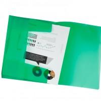 Liderpapel 25615. Carpeta  con gomas y solapas DIN A4 de polipropileno verde