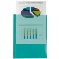 Liderpapel 27849. Carpeta dossier dos bolsas A4 de polipropileno verde transparente