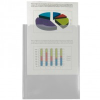 Liderpapel 27850. Carpeta dossier dos bolsas A4 de polipropileno transparente