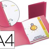 Liderpapel CA63. Carpeta A4 2 anillas redondas 15 mm polipropileno rojo translúcido