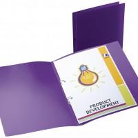Liderpapel CA68. Carpeta A4 2 anillas redondas 15 mm polipropileno violeta