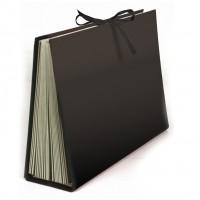 Liderpapel FU04. Carpeta fuelle cuarto carton forrado negra