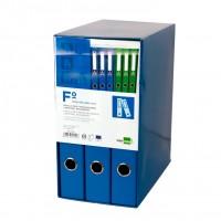 Liderpapel MD31. Módulo azul 3 archivadores folio 2 anillas mixtas 40 mm