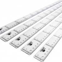 Liderpapel RG01. Regla 20 cm graduada plástico cristal