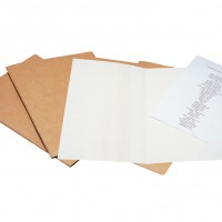 Liderpapel SC24. 50 subcarpetas folio 240 g/m2 kraft interior blanco