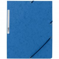 Q-Connect KF02167. Carpeta azul gomas y solapas carton simil-prespan 320x243 mm.