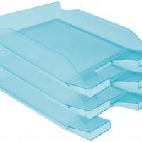 Q-Connect KF04200. Bandeja sobremesa plástico azul turquesa transparente