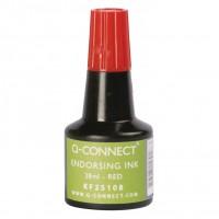 Q-Connect KF25108. Tinta roja para tampón - frasco de 28 ml.