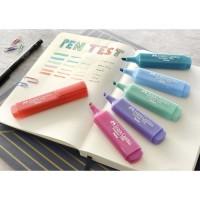 FABER CASTELL Textliner 46 Pastel. Marcador brillante punta biselada. Varios colores