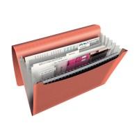 Esselte Clasificador de pp acordeón 6 compartimentos Colour Ice A4. Colores