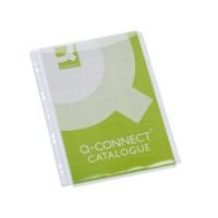 Q-CONNECT KF00138 Funda multitaladro de PVC 180 micras con fuelle DIN A4