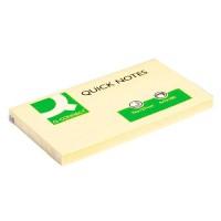 Q-CONNECT KF10503 Bloc de notas adhesivas amarillas 75x125 mm. 100 hojas. Pack 12
