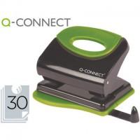 Q-CONNECT KF00996 Taladrador metálico con empuñadura de caucho. 30 hojas