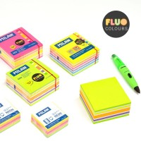 MILAN 4155400 Bloc 400 notas adhesivas colores Fluo 76 x 76 mm