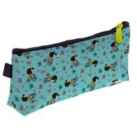 GRAFOPLAS 37540741. Estuche escolar portatodo simple Mafalda Bici
