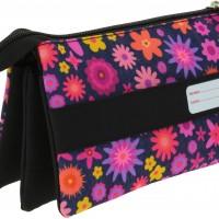 GRAFOPLAS 37543003. Estuche escolar portatodo triple Bits & Bobs Flowers