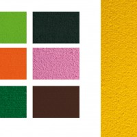 GRAFOPLAS 00036552. Pack 5 láminas de Goma Eva toalla de 40 x 60 cm. Color naranja