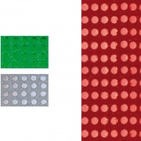 GRAFOPLAS 00037351. Pack 5 láminas de Goma Eva metal de 40 x 60 cm. Color rojo