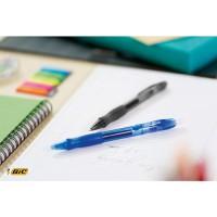 BIC Gelocity Quick Dry Bolígrafo retráctil tinta gel punta media de 0,7 mm. Colores clásicos